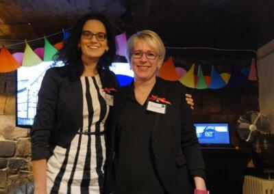 Die Initiatorinnen Vanessa Kuhlmann und Kirsten Deggim beim Gründer- und UnternehmerTreff Herdecke